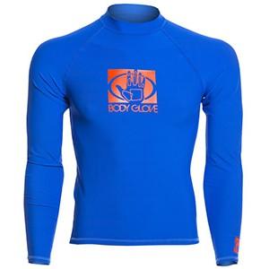 BODY GLOVE Basic Rash Guard Lycra Long Sleeve Royal Blue Men