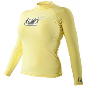 BODY GLOVE Basic Rash Guard Lycra Long Sleeve Yellow Women