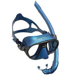 CRESSI Calibro Mask + Corsica Snorkel Combo Set [BLUE NERY]